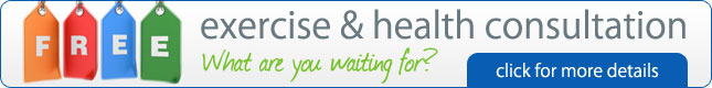 Free exercise & health consultation - what are you waiting for? click for more details